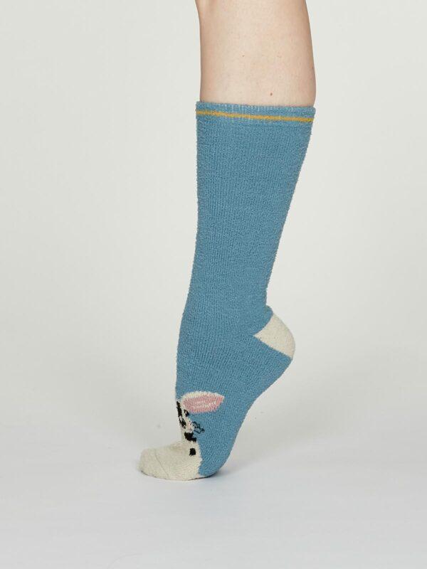 Thought dámske teplé ponožky rebecca modré