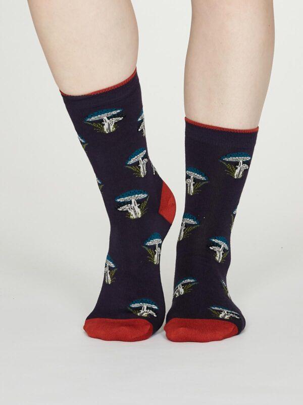 Thought dámske bambusové ponožky ibot fialové