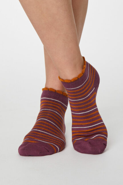 Thought dámske kotníkové ponožky lorraine růžové