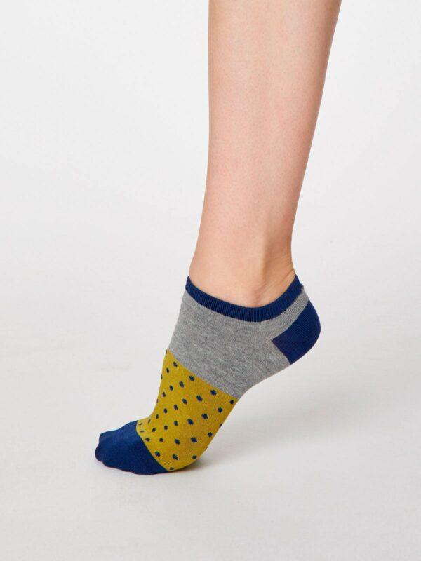 Thought kotníkové dámske ponožky esther žluté