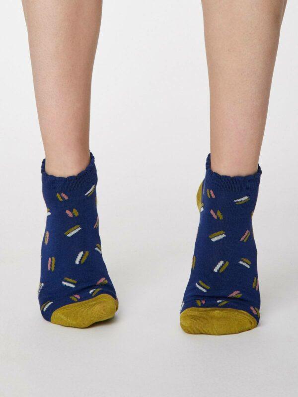 Thought kotníkové dámske ponožky sallie modré