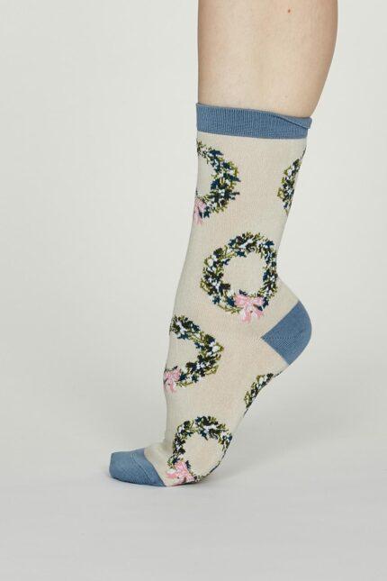 Thought dámske bambusové ponožky adella krémové