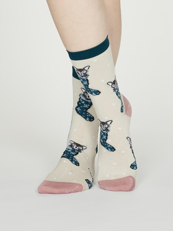 Thought dámske bambusové ponožky jena krémové