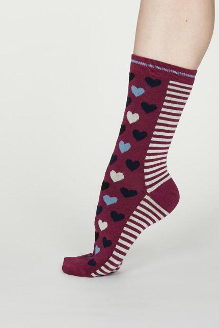 Thought dámske bambusové ponožky eileen vínové
