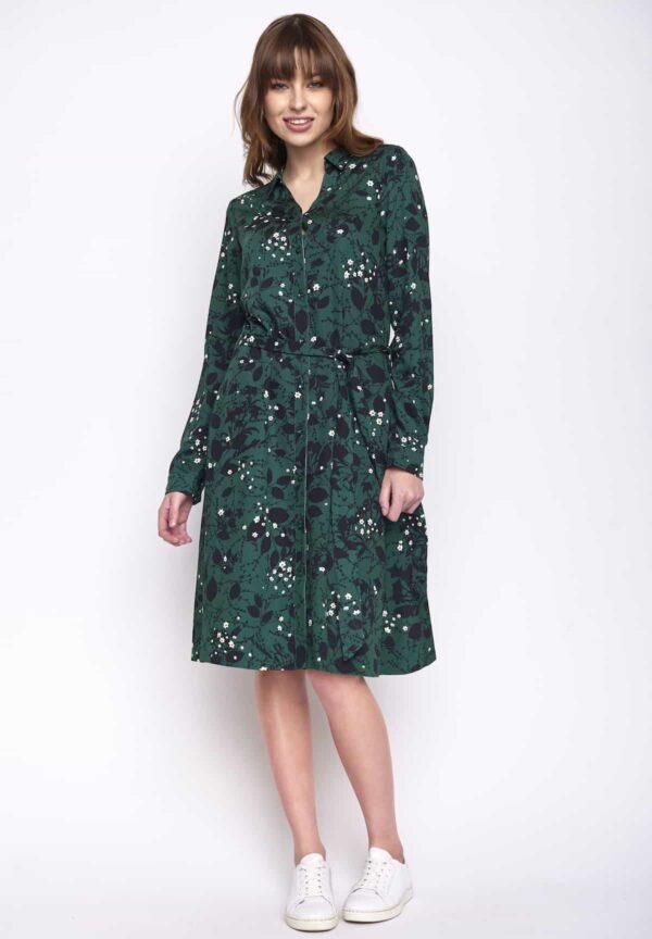 Greenbomb košilové šaty chain winter blue
