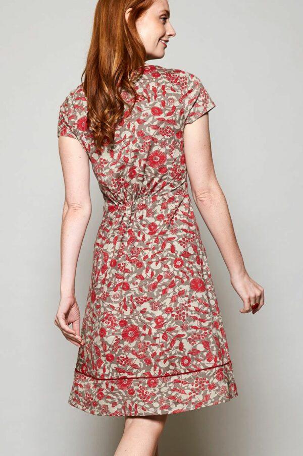 Nomads Šaty tresco z bio bavlny červené