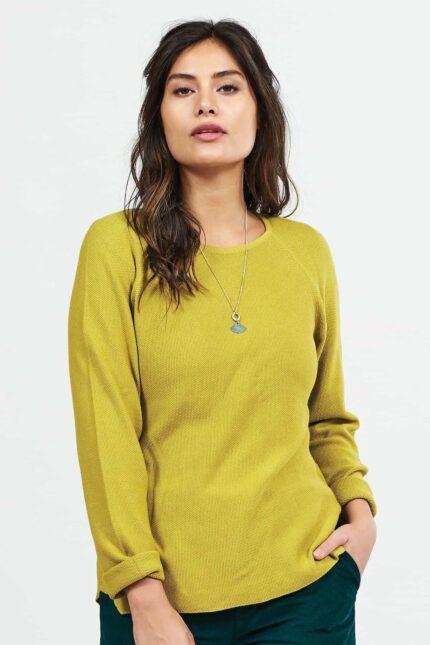 Nomads svetr s viskózou žlutý