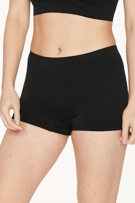 Thought bezešvé kalhotky s nohavičkou renata černé