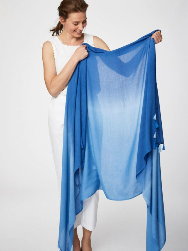 Thought bambusový dip dye sarong modrý