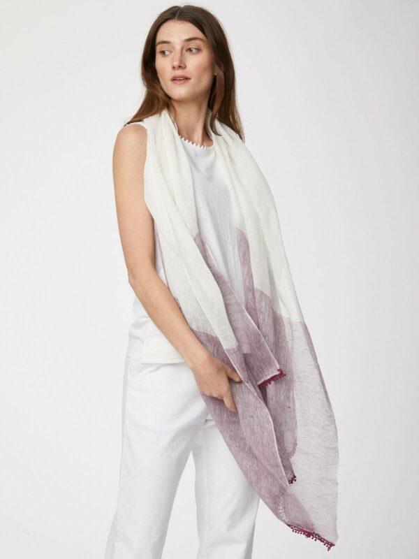 Thought konopný šátek zanetta růžový