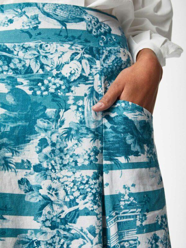 Thought konopná sukně toile de jouy