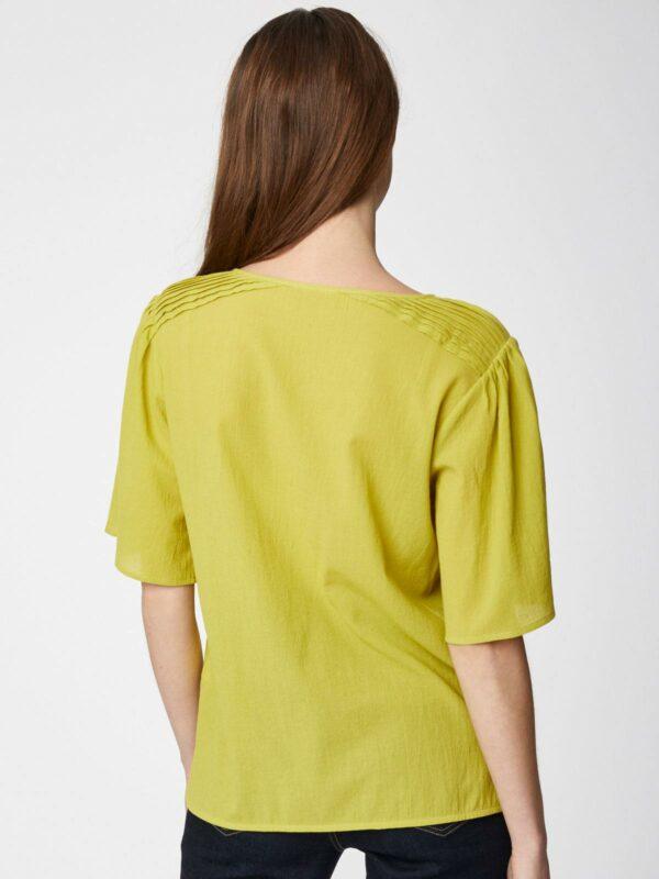 Thought blůza z bio bavlny winnie žlutá