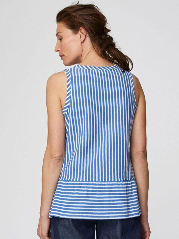 Thought konopný top simonia vest modrý