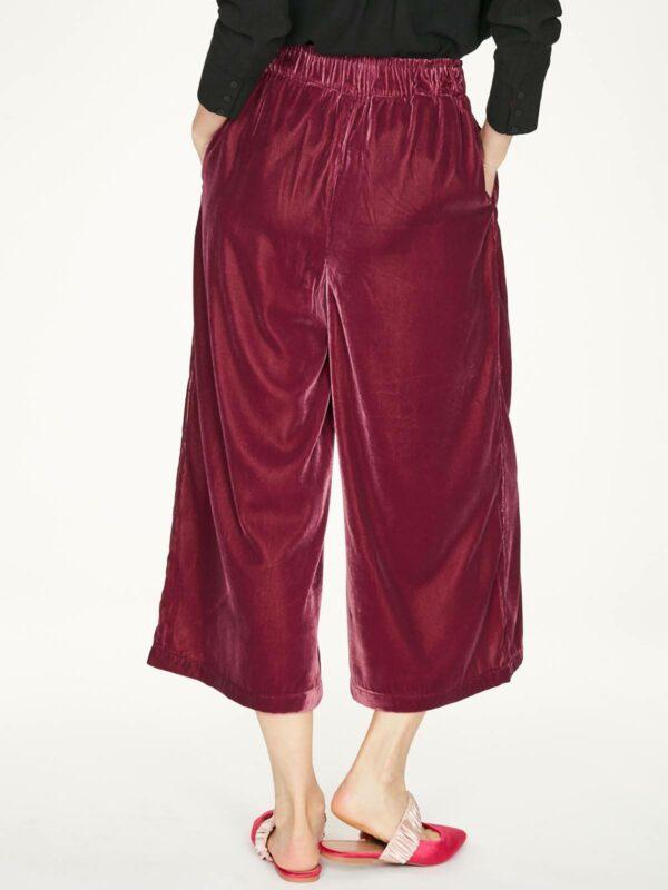 Thought samotové kalhoty veronica vínové