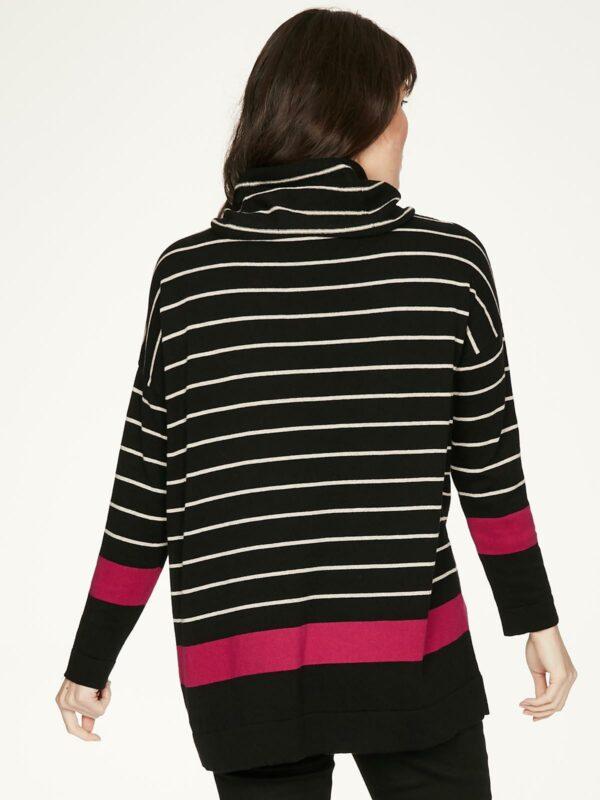 Thought rolákový svetr s vlnou emery černý