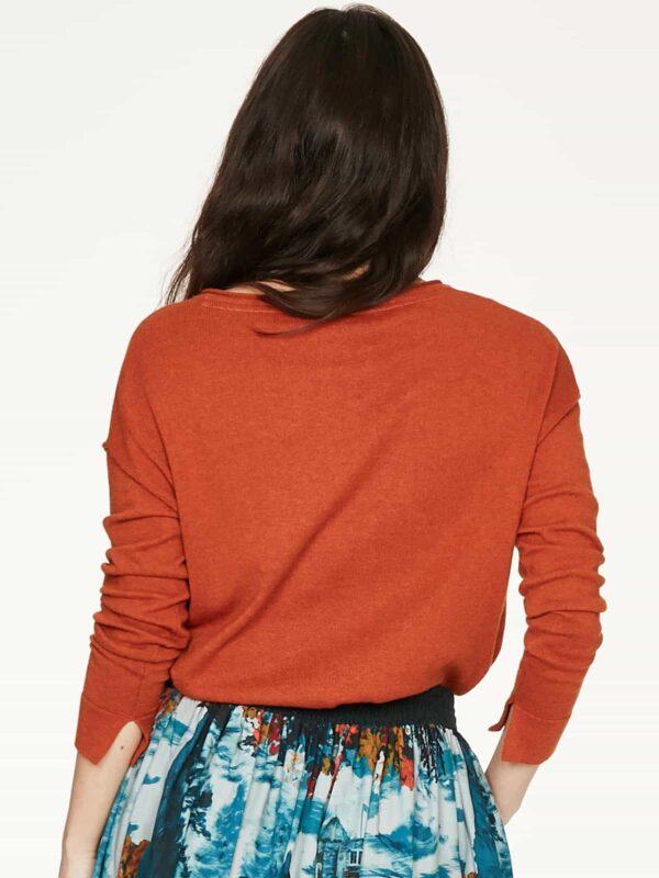 Thought svetřík s vlnou loren oranžový